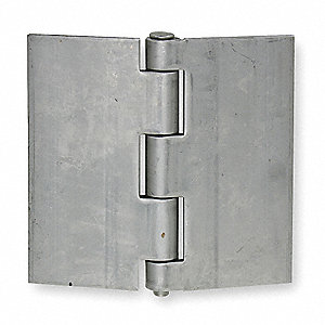 "5"" x 5"" Butt Hinge with Stainless Steel Finish, Full Surface Mounting, Square Corners"