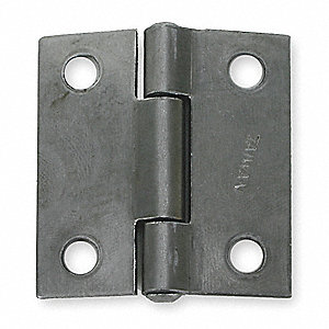 "1"" x 1"" Butt Hinge with Gray Enamel Finish, Full Mortise Mounting, Square Corners"