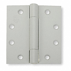 "4-1/2"" x 4-1/2"" Butt Hinge with Gray Prime Coat Finish, Full Mortise Mounting, Square Corners"