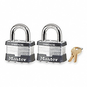 "Keyed Padlock,Alike,2""W,PK2"