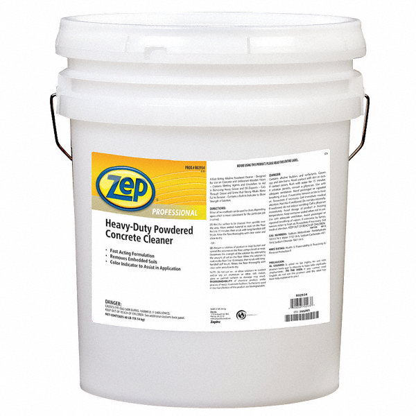 Zep professional 40 lb concrete floor cleaner 1 ea for Organic concrete cleaner