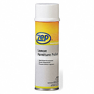 Furniture Polish, Lemon Fragrance, 20 oz. Aerosol Can, 1 EA