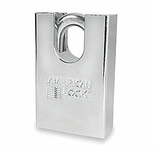 "Alike-Keyed Padlock, Open Shackle Type, 1"" Shackle Height, Silver"