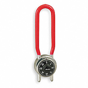 "Combination Padlock Center-Dial Location, 4-1/4"" to 4-3/4"" Shackle Height"