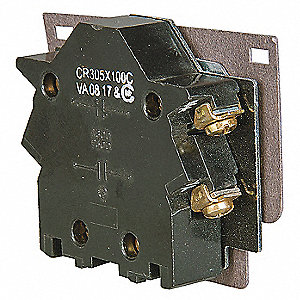 NEMA Auxiliary Contact Block, 10 Amps, Instantaneous Type, Side Mounting