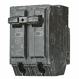 Plug In Circuit Breaker, THHQL, Number of Poles 2, 20 Amps, 120/240VAC, High Interrupting Capacity