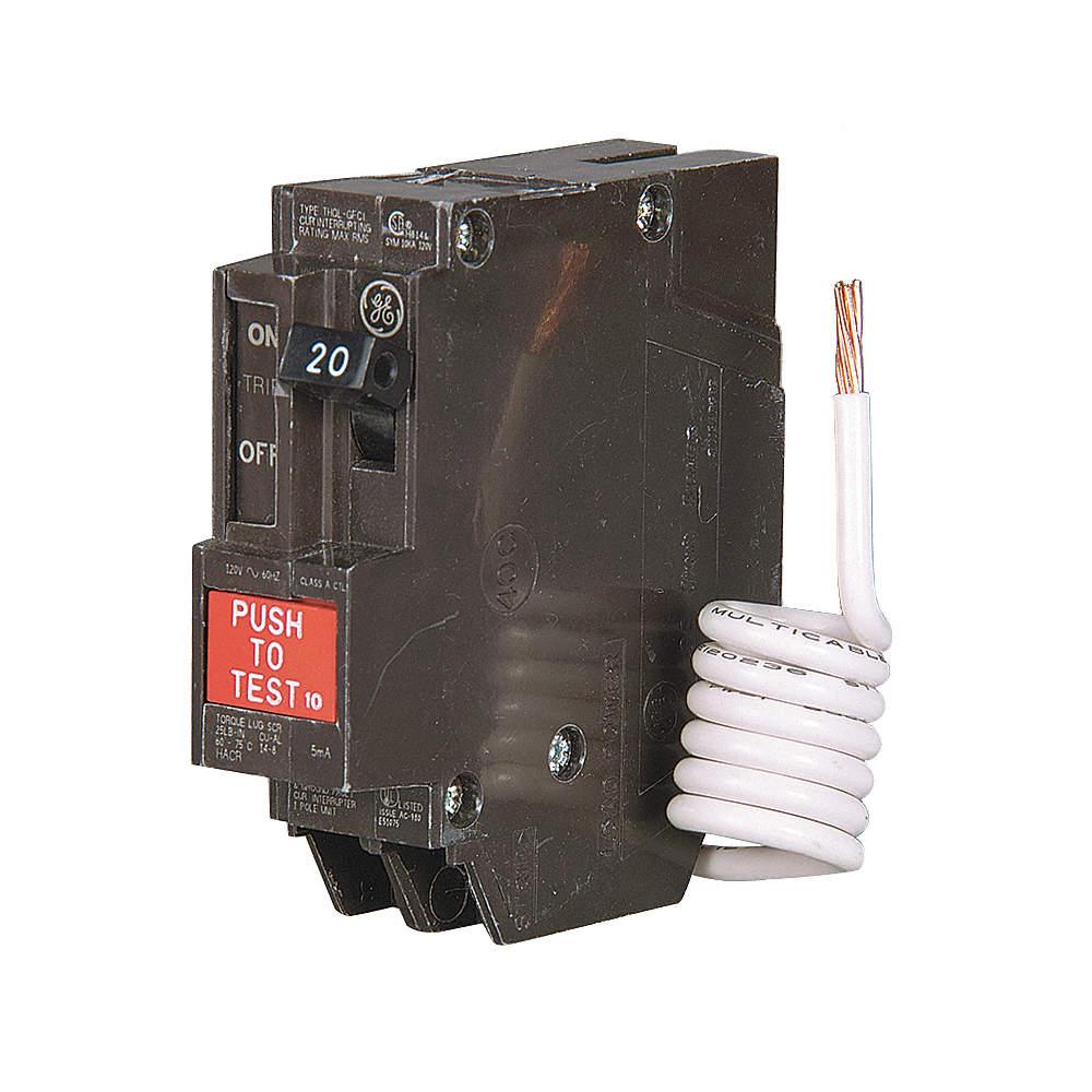 GE Plug In Circuit Breaker, THQL, Number of Poles 1, 15 Amps, 120VAC ...