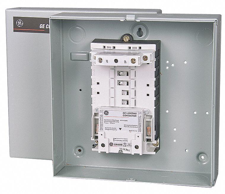 GENERAL ELECTRIC Lighting Contactr2P120VNEMA1ElecHeld 3HXZ7