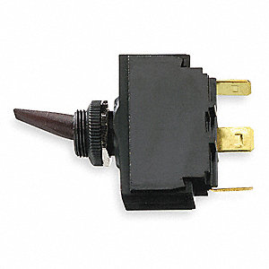 Marine Toggle Switch, Number of Connections: 3, Switch Function: Momentary  On/Off/Momentary On