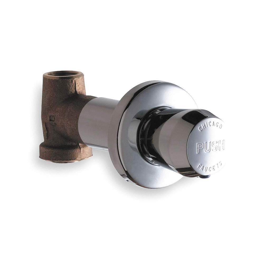CHICAGO FAUCETS Chrome Tub And Shower Valve, Single Control Shower ...
