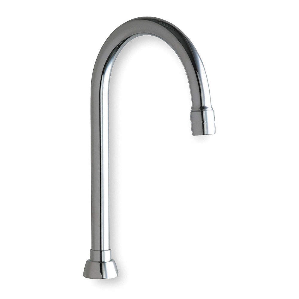 CHICAGO FAUCETS Gooseneck Spout With Aerator for Chicago Faucets, 5 ...