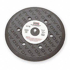 "5"" Adhesive/PSA Disc Backup Pad, 5/16""-24 Threaded Shaft Back Mount, 12,000 Max. RPM, 1 EA"