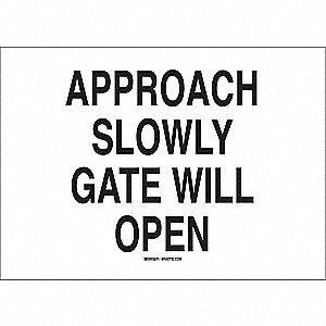 Security Sign,14 x 20In,BK/WHT,ENG,Text