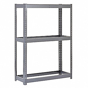 "Freestanding Boltless Shelving with None Decking, 3 Shelves, 69""W x 16-15/16""D x 60""H"