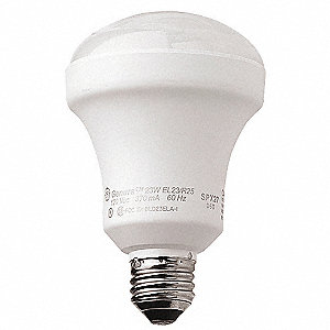 23 Watts  Screw-In CFL, R25, Medium Screw (E26), 1100 Lumens 2700K Bulb Color Temp.