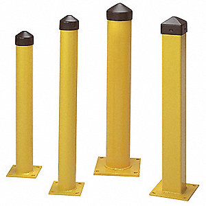 "42"" Fixed Carbon Steel Bollard with 6-5/8"" Outside Dia., Yellow"