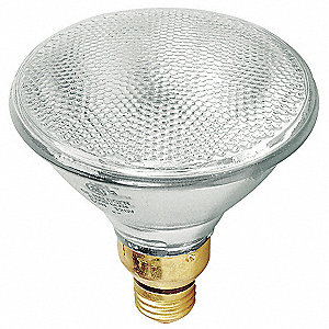 90 Watts PAR38 Clear Halogen Floodlight, 1310 Lumens, 1EA