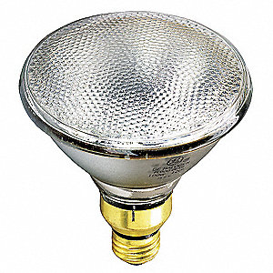 Halogen Lamp,  PAR38,  Medium Screw (E26),  Lumens 1600,  Reflector Bulb Type,  Watts 80