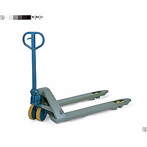 "Standard General Purpose Manual Pallet Jack, 5500 lb. Load Capacity, Fork Size: 6""W x 48""L, Gray"