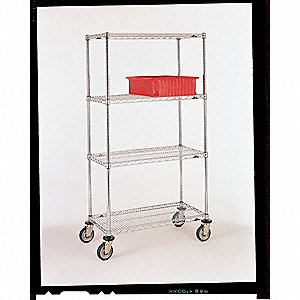 Wire Cart,24 In. W,60 In. L,Steel