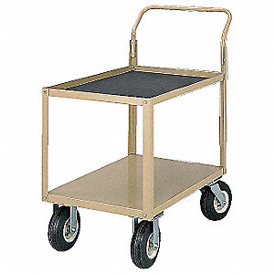 "47-1/2""H x 24-1/2""W x 42""D Instrument Cart, 1600 lb. Load Capacity, Number of Shelves: 2"
