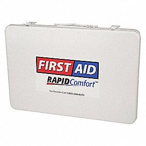 First Aid Kit,Unitized,White,21Pcs,50Ppl