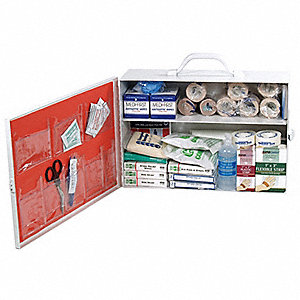 First Aid Kit,Bulk,White,25 Pcs,100 Ppl