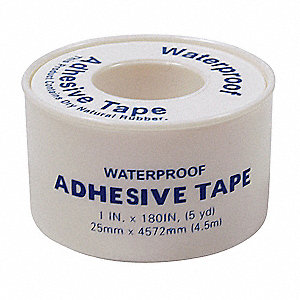 Adhesive Tape,White,1 In. W,5 yd. L