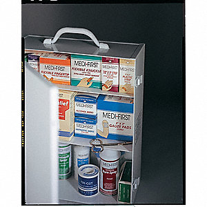 First Aid Kit,Bulk,White,26 Pcs,150 Ppl