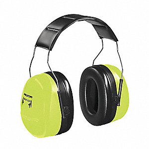 Ear Muff,30dB,Over-The-Head,Black/Green