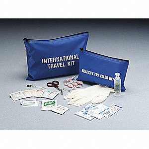 Travel First Aid Kit,Bulk,Blue,1 People