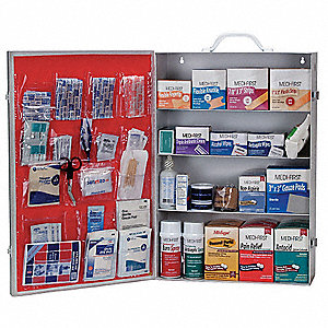 First Aid Kit,Bulk,White,34 Pcs,200 Ppl