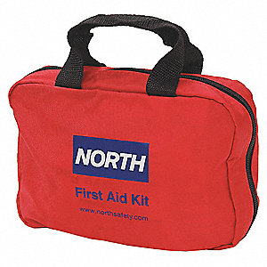First Aid Kit, Kit, Nylon Case Material, General Purpose, 10 People Served Per Kit
