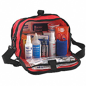 CPR Barrier First Aid Kit,Bulk,Red,62Pcs