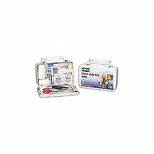 First Aid Kit,Bulk,White,61 Pcs,10 Ppl