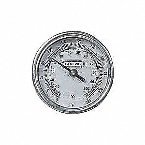 Bimetal Thermom,3 In Dial,0 to 220F