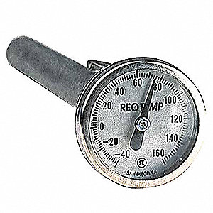 Dial Pocket Thermometer,5 In. L