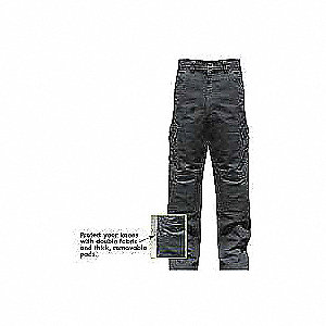 Pants,Black,Cotton,38 In.