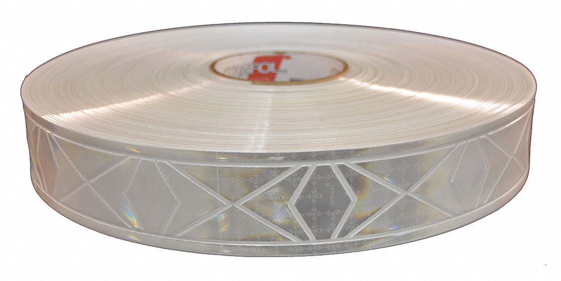 White Reflective Clothing Tape, Width 2 in, Length 300 ft
