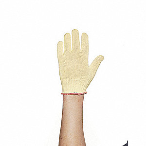 Uncoated Cut Resistant Gloves, ANSI/ISEA Cut Level 2, Kevlar® Lining, Yellow, XS, PR 1