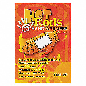 Hand Warmer, up to 11 hr Heating Time, Activates By Contact with Air