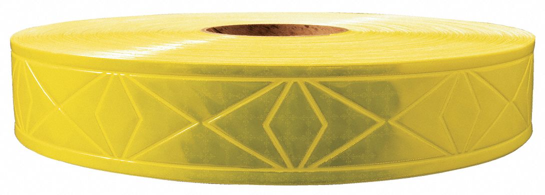 Lime Green Reflective Clothing Tape, Width 1 3/8 in, Length 300 ft