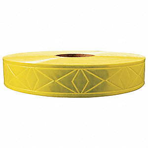 "Lime Green Reflective Clothing Tape, Width 1-3/8"", Length 300 ft."