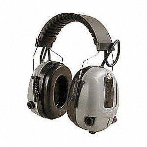 HEADBAND EAR MUFFS,GRAY/BLACK,NRR 2