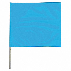 "Marking Flag, 18"" Glo Blue,PVC,PK100"