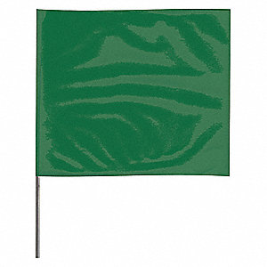 "Marking Flag, 15"", Green,PVC,PK100"
