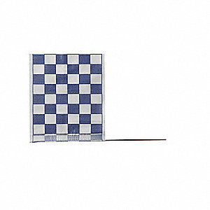 "Checkered Blue On White Marking Flag, 4"" Flag Height, Checkered Pattern, Blank"