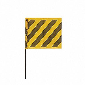 MARKING FLAG,BLACK/YELLOW,VINYL,PK1