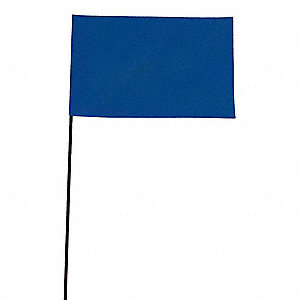 "Fluorescent Blue Marking Flag, 2-1/2"" Flag Height, Solid Pattern, Blank"