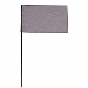 "Clear Marking Flag, 2.5"" Flag Height, Solid Pattern, Blank"